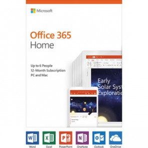 6GQ-01028 MICROSOFT OFFICE - 365 HOME - BOX PACK (1 YEAR) - UP TO 6 PEOPLE