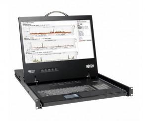 "TRIPP LITE B040-016-19 - 16-PORTS - RACK CONSOLE VGA KVM SWITCH W/ 19"" LCD 1U TAA - KVM SWITCH - 16 PORTS - RACK-MOUNTABLE"