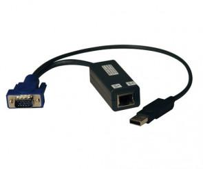 TRIPP LITE B078-101-USB-1 - USB SINGLE SERVER INTERFACE UNIT VIRTUAL MEDIA KVM SWITCH HD15 USB RJ45 TAA - KVM EXTENDER