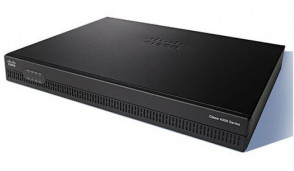 ISR4321-AX/K9 - Cisco 4321 Router 2 Ports Management Port 4 Slots Gigabit Ethernet 1U Rack-mountable Wall Mountable