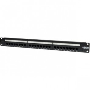 TRIPP LITE N052-024 - 24-PORTS CAT5E CAT5 RACKMOUNT PATCH PANEL 568B 110 PUNCH 1URM - PATCH PANEL - 1U - 19""