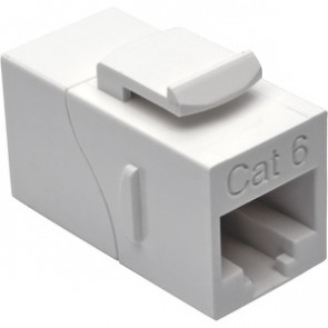 TRIPP LITE N235-001-WH - STRAIGHT-THROUGH MODULAR IN-LINE SNAP-IN COUPLER - NETWORK COUPLER - WHITE - TAA COMPLIANT
