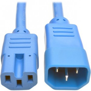 TRIPP LITE P018-003-ABL - 3FT HEAVY DUTY POWER EXTENSION CORD 15A 14 AWG C14 C15 BLUE 3' - POWER CABLE - 3 FT