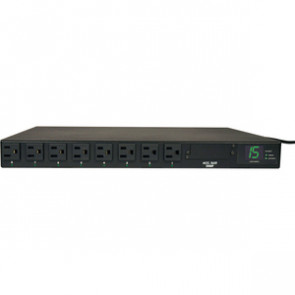 TRIPP LITE PDUMH15AT - PDU METERED ATS 120V 15A 5-15R 8 OUTLET 2 5-15P HORIZONTAL 1URM - HORIZONTAL RACKMOUNT - POWER DISTRIBUTION UNIT - 1.4 KW - 1800 VA