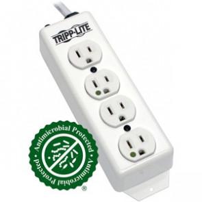 Tripp Lite PS-415-HG Power Strip Hospital Medical 120V 5-15R-HG 4 Outlet 15' Cord Metal
