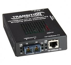 TRANSITION SBFTF1013-105-NA - NETWORKS STAND-ALONE 10/100 BRIDGING - FIBER MEDIA CONVERTER - 10MB LAN