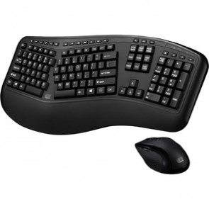 Adesso WKB-1500GB Tru-Form Media 1500 - Wireless Ergonomic Keyboard and Laser Mouse
