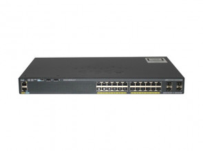 WS-C2960X-24PS-L - Cisco 24-Ports Catalyst RJ-45 Connector SFP (mini-GBIC) Switch Managed Rack-Mountable